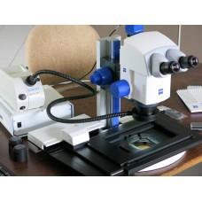 Стерео микроскоп Zeiss Discovery V8 двигатель с колонной крестовым столом и Двигателем