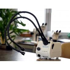 """Холодный источник света Schott KL 1600 с 2-armigem световод """"гусиная шея"""" и фокусировки намерения"""